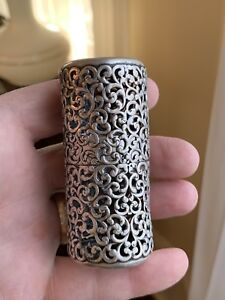 Rare Art Nouveau Sterling Silver Hair Pin Box Unger