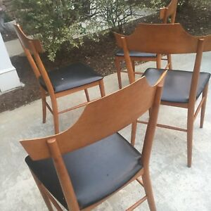 Paul Mccobb Planner Group Four Chair Set Project Comdition Rare