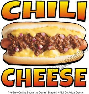 Chili Cheese Hot Dogs Concession Trailer Food Truck Restaurant Menu Vinyl Decal