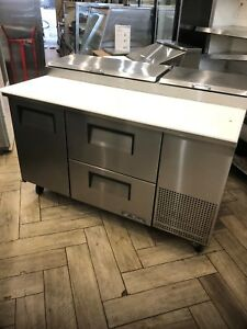 Pre owned True Tpp 60d 2 60 Refrigerated Pizza Prep Table