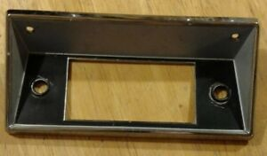 1967 1972 Ford Pickup Truck Bronco Chrome Radio Bezel Face Plate C8ta 18842 a