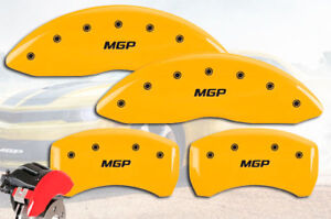 2017 2019 Jaguar Xe Front Rear Yellow mgp Brake Disc Caliper Covers 4pc Set