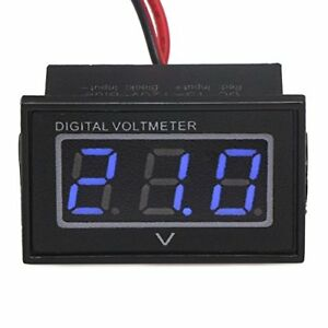 Drok 0 56 Waterproof Dc 15 120v Digital Voltmeter Voltage Measurement Gauge