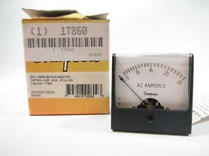 New Simpson 02609 Analog Panel Meter 1257