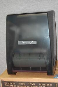 Perrincraft Black No Touch Roll Paper Towel Dispenser 1555a1 S4828