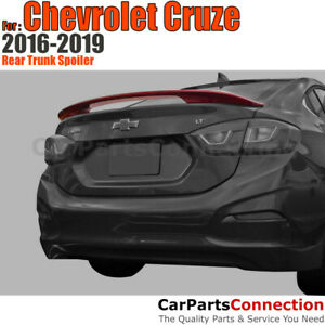 Painted Rear Trunk Spoiler For Chevrolet Cruze 16 19 Silver Ice Metallic Wa636r