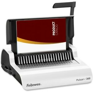 New Fellowes 5006801 Pulsar Plus 300 Manual Comb Bndng Machine Binding