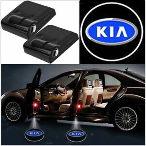 2 Pcs Wireless Led Car Logo Door Light Welcome Courtesy Ghost Lights For Kia