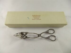 Silver Ornate Scissor Sugar Nips Tongs Hanau German
