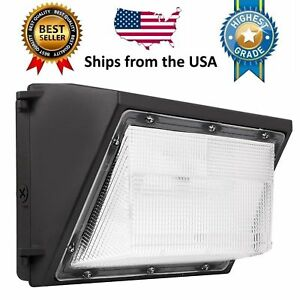 Led Wall Pack 80w 5000k Commercial Light Fixture 9600lm Dusk To Dawn Photocell