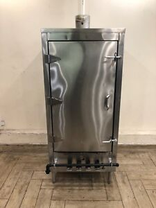 Used Chinese Smoker Oven Stainless Steel Interior 4 Burners 78 Nsf Approved