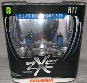 Sylvania Silverstar Zxe H11 Set Headlight Bulbs Xenon Fueled Brand New