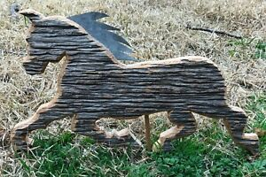 Vintage Antique Handcarved Wood Weathervane Horse 14 X8