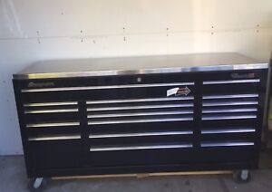 Snap On Black Tool Box Classic 96 Kra2418 Stainless Steel Top