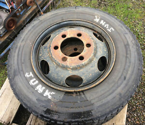 22 5 With Steel 6 Hole Budd Rim Set Of 4 Dodge D W 500 Ford Ih Military