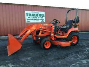 2010 Kubota Bx2350 4x4 Hydro Compact Tractor W Loader Mower Only 600 Hours