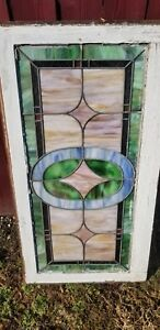 Antique American Stained Glass Window Circa Unknown