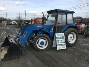 1996 New Holland 3930 4x4 Utility Tractor W Cab Loader Needs Work