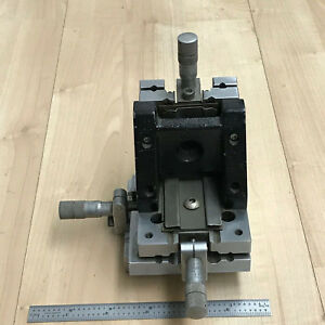 Xyz Stage 0 475 Travel W 1 2 Lufkin Micrometers made In Usa