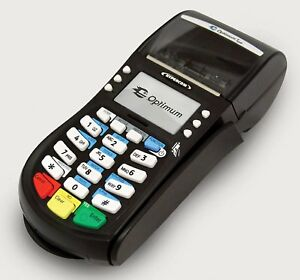 Hypercom Optimum T4220 Credit Card Machine Features Ethernet Port And