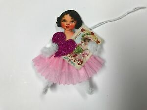 Paper Doll Valentine S Day Gift Tags Ornaments Chenille Feather Tree Item 2a