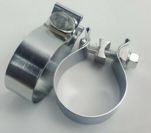 2 5 63mm Band Clamp Custom Exhaust Downpipe Turbo Mid Test Pipe Clamp 2 1 2