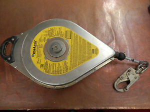 Msa Dyna lock 506208 Self Retracting Lanyard 95 Ft Galvanized Cable 1800 Lbs Max