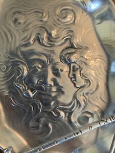 Very Rare Art Nouveau Sterling Silver Fantasy Pin Tray Unger Perfect