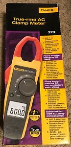 New Fluke 373 True rms Current Clamp Meter 600a Ac 600v Ac dd