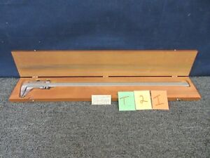 Starrett No 123e m Vernier Caliper 26 In Dial 001 Shop Measure Tool Machine