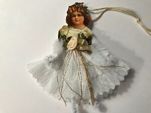 Paper Doll Christmas Ornaments Chenille Feather Tree Vintage Image Item 14