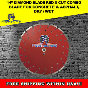 14 Diamond Blade Super G Cut Combo Blade For Concrete Asphalt Dry Wet