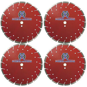 4pack 14 Diamond Blade Super G Cut Combo Blade For Concrete Asphalt Dry Wet