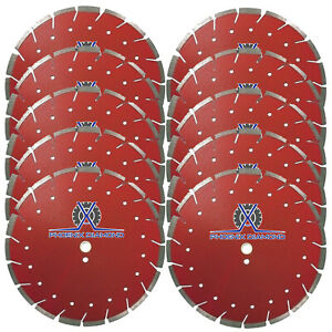 10pck 14 Diamond Blade Super G Cut Combo Blade For Concrete Asphalt Dry Wet