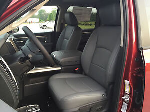 2014 2015 2016 2017 Dodge Ram Crew Cab Gray Grey Katzkin Leather Seat Covers