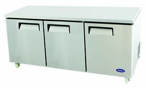 Atosa Lowboy 72 in Undercounter refrigerator W 5 in Castors