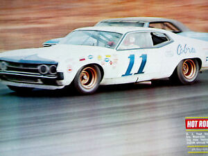 1970 Ford Torino Cobra Aj Foyt 11 Original Page Print Poster Picture Decal