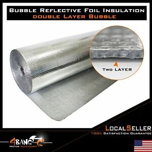Bubble Double Foil Thermal Insulation Home House Attic Roof Wall Anti Uv Reflect