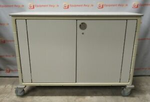 Herman Miller Millcare Medical Supply Crash Cart Cabinet Double Wide 58x41 5x21
