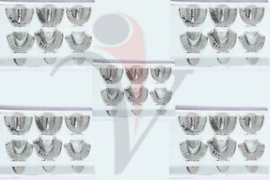 5 Sets Of Dental Impression Trays Autoclave Metal Perforated Stainless Steel