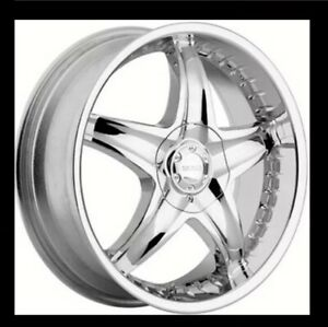 18 Inch Akuza 360 Phiz Chrome Wheels Sold Out On Akuza Site Rims And Tires