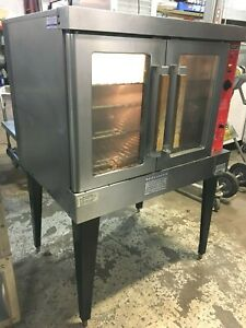 Oven Vulcan Single Deck Full Size Natural Gas Convection Oven W t Legs 54k Btu