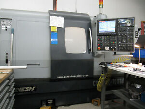 Ganesh Cyclone 70ttmy 8 axis Twin spindle Twin turret Live Tool Cnc Lathe Mill