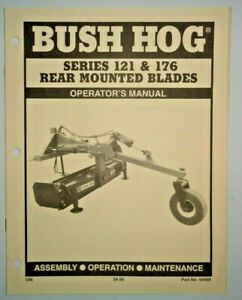 Bush Hog 121 176 Rear Mounted Blade Operators Maintenance Assembly Manual 5 96