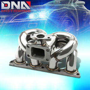 B Series B16 B17 B18 Ek Eg Dc Ram Horn Stainless T3 T04e Turbo Charger Manifold