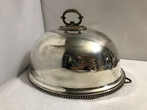 Quality Vintage Silver Plate Food Cover Dome Silversmiths And Goldsmiths Company