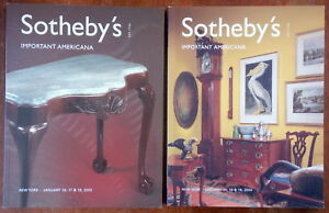 Two Sotheby S Catalogs Important Americana New York 2003 2004