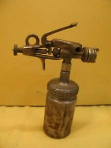 Rare Vintage Devilbiss Type Cv Spray Gun With Canister