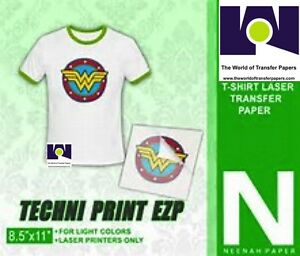 Techni print Ezp Laser Heat Transfer Paper 8 5 X 11 50 Sheets