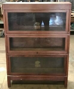 Globe Wernicke Sectional Bookcase 3 Section 11 Unit Pattern 811 Antique Vintage